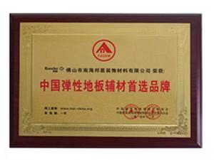 2014年中国弹性地板辅材首选品牌